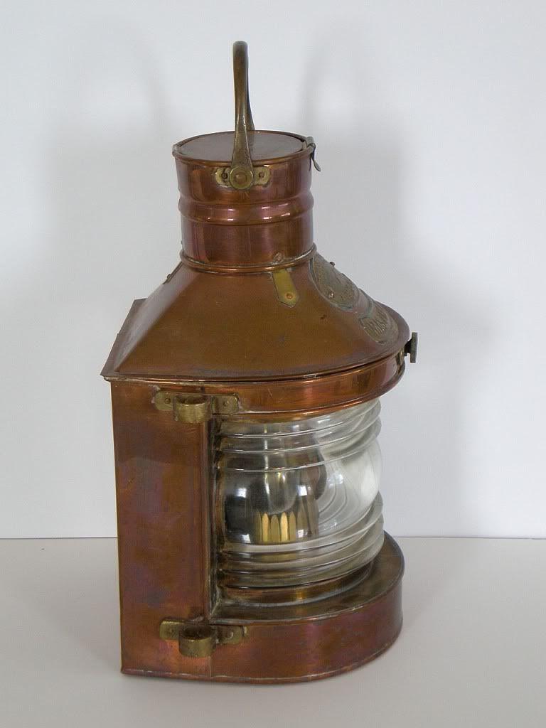 Antique Maritime Ship Lantern, Masthead, Tung Woo, Hong ...
