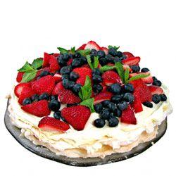 Strawberry and berry pavlova
