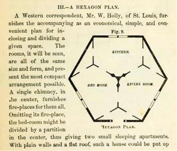 Hexagon Floor Plan Vintage Hexagonal Architecture