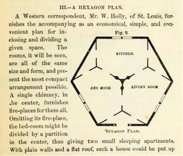 Hexagon Floor plan (vintage) | Hexagonal architecture | Pinterest ...