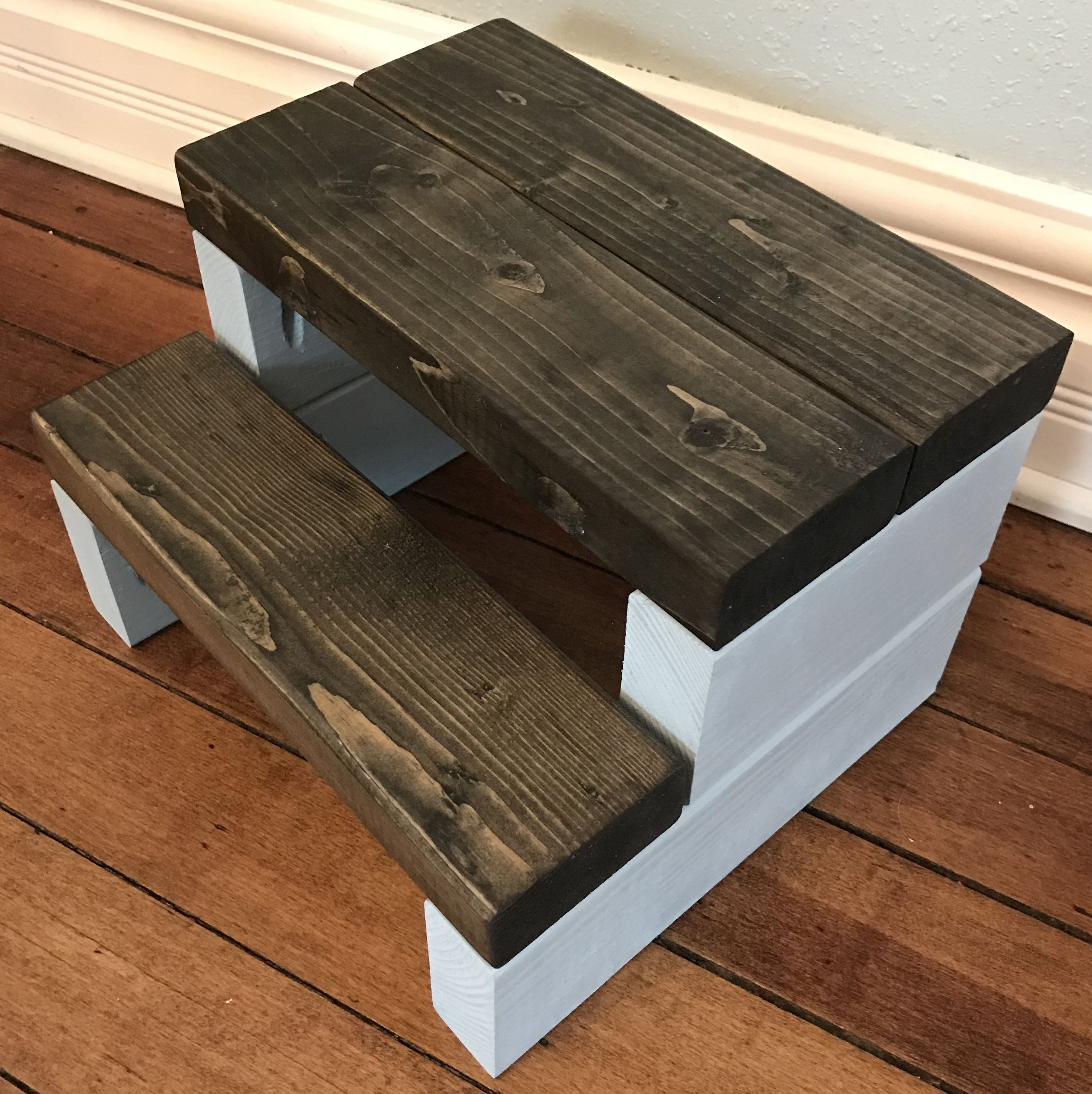 Rustic Segmented Kids Step Stool / Toddler Step Stool / Wooden Step ...