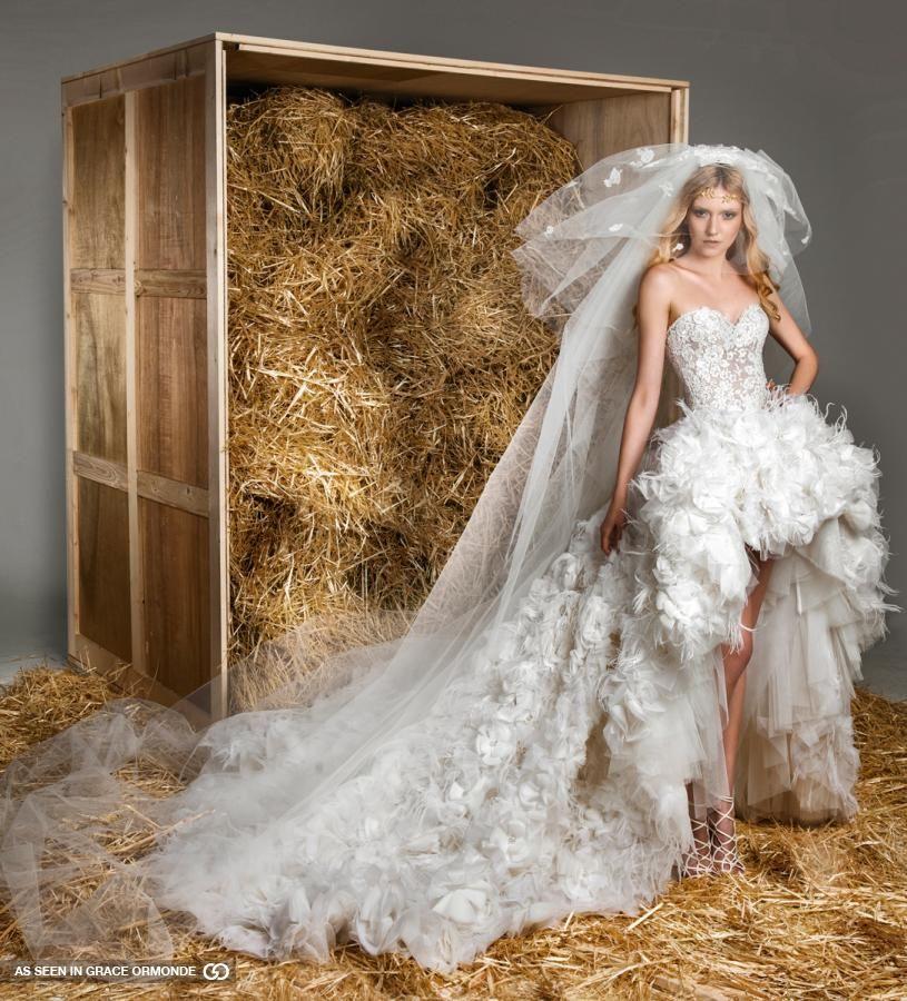 zuhair murad celebrity wedding gown