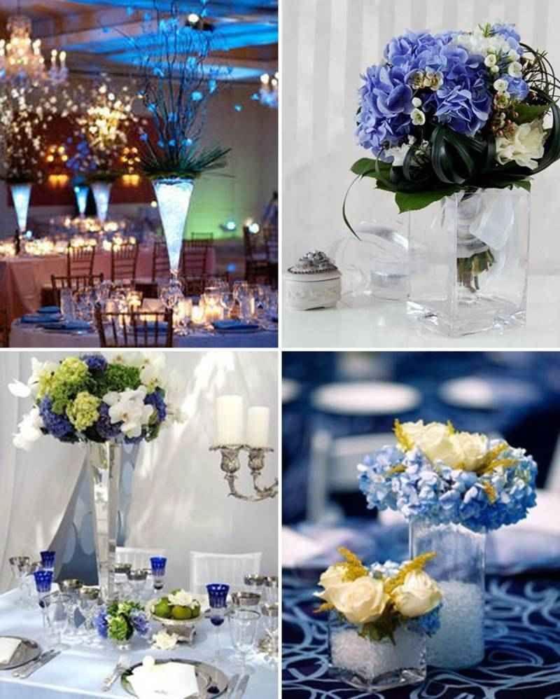 Centros de mesa azules 1 tile decoraciones cumplea os - Decoraciones de salones ...