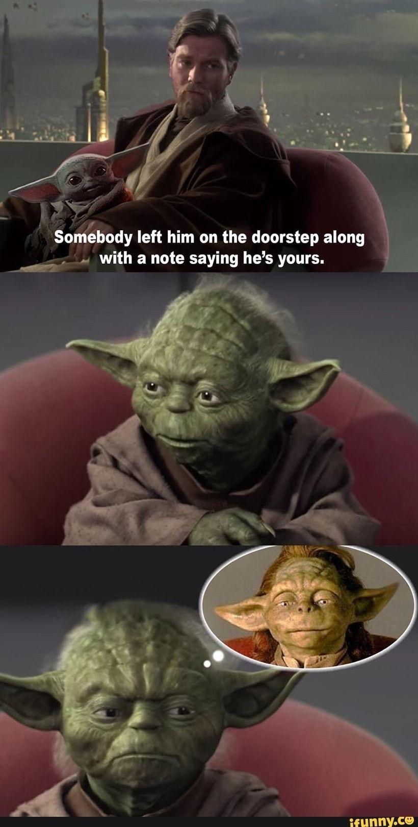Awkward Star Wars Humor Star Wars Jokes Yoda Meme