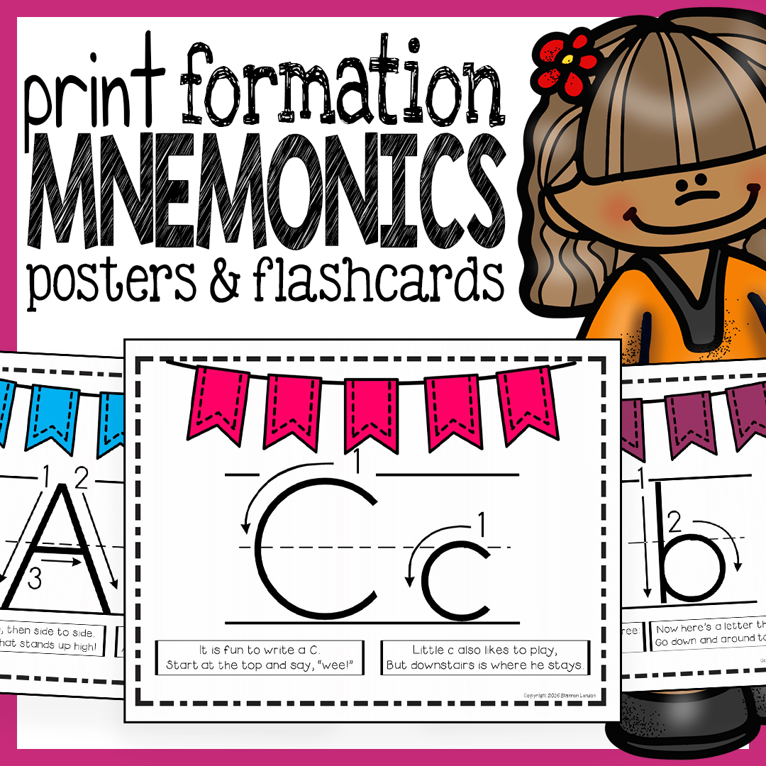 Print Handwriting Posters Flashcards And Mnemonics