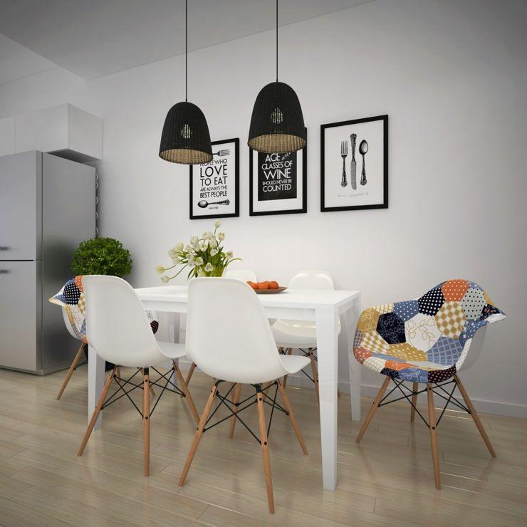 Appartement citadin meublé selon les principes du design scandinave