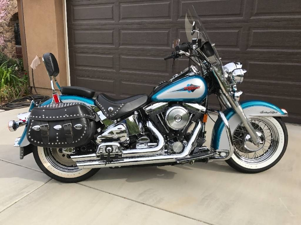 1995 Harley Davidson Heritage Softail Classic 1995 Classic Harley Davidson Heritage Softail Harley Davidson Bikes Harley Bikes Softail