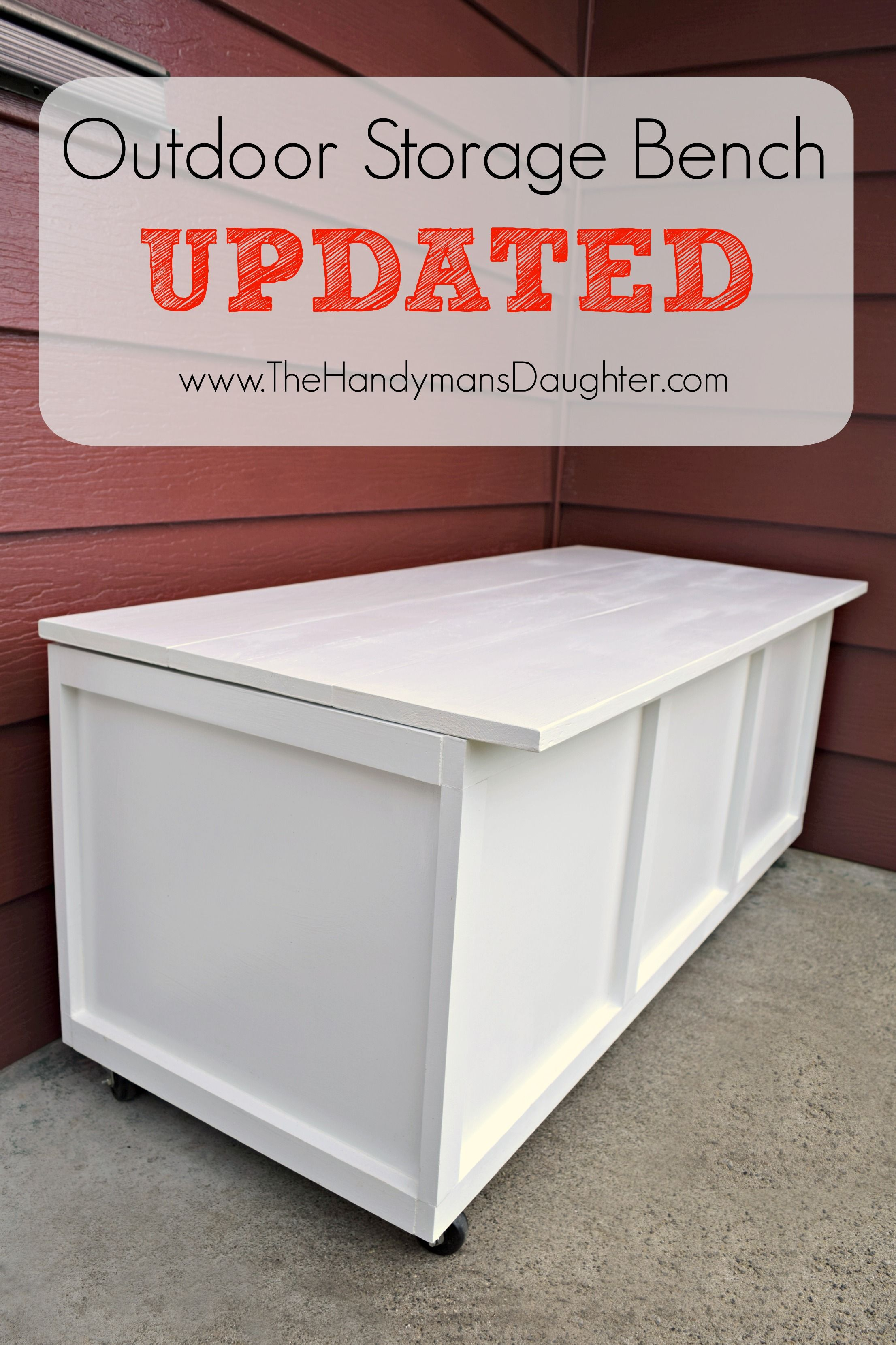 Diy Outdoor Storage Bench Take Two Diy Furniture And Woodworking
