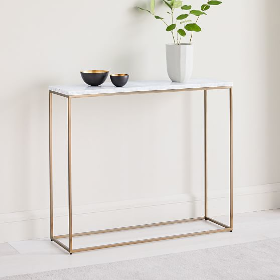 outlet store b1657 f8454 Streamline Console, Marble, Antique Bronze   Products in ...