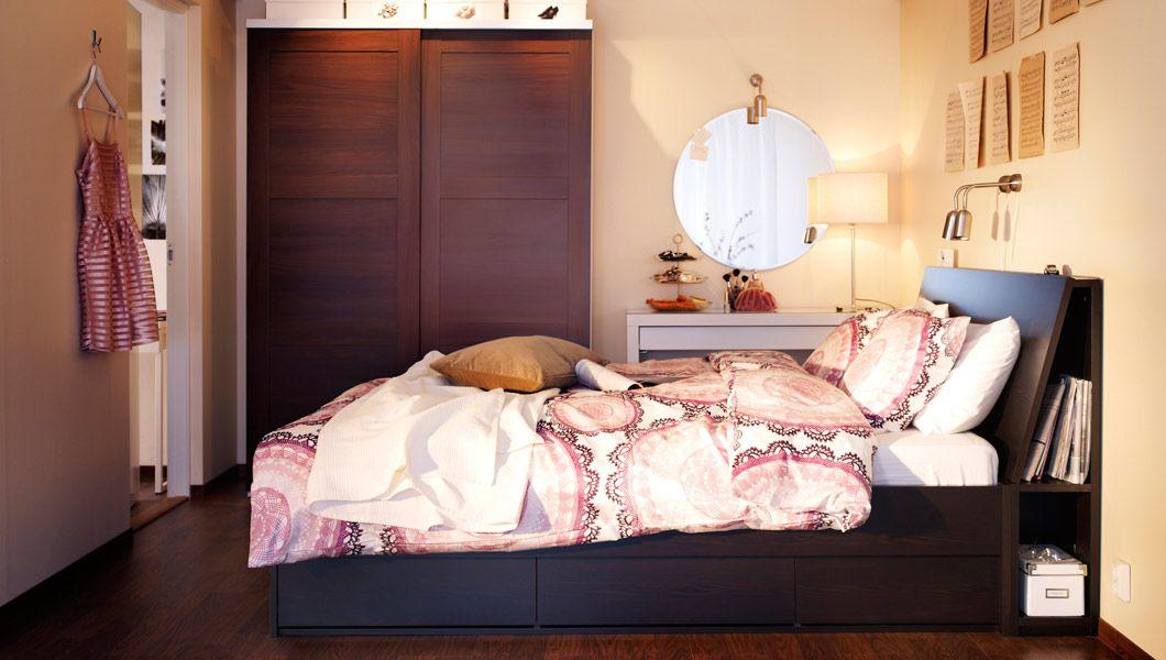 elegante schlafzimmerm bel ein schlafzimmer mit oppdal bettgestell mit schubladen mit oppdal. Black Bedroom Furniture Sets. Home Design Ideas