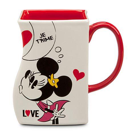 Mickey and Minnie Mouse Interlocking Mug - White