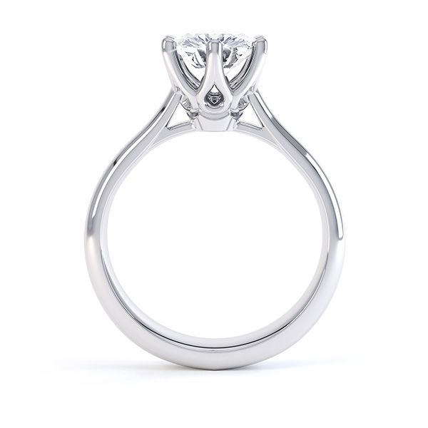 58329963b928 Tiffany Inspired Solitaire Engagement Ring Front View   Ring finger ...