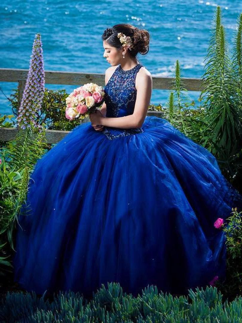 29346ab512a gorgeous royal blue quinceanera dresses with beaded for sweet 16 prom