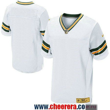 Men s Green Bay Packers Blank White With Gold Stitched NFL Nike Elite Jersey 098c5303a