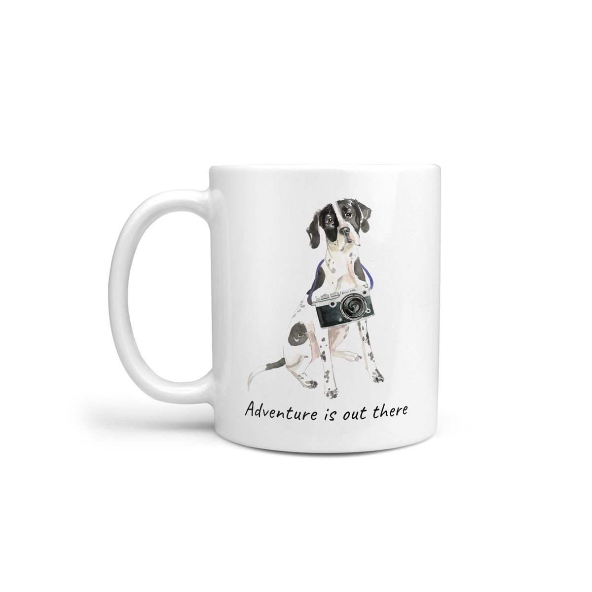 Adventure is out there English Pointer dog mug (Illustrated