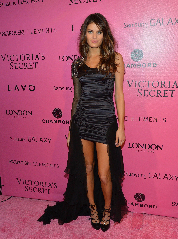 Black dress victoria secret - Isabeli Fontana Victoria S Secret Fashion Show 2012 Afterparty