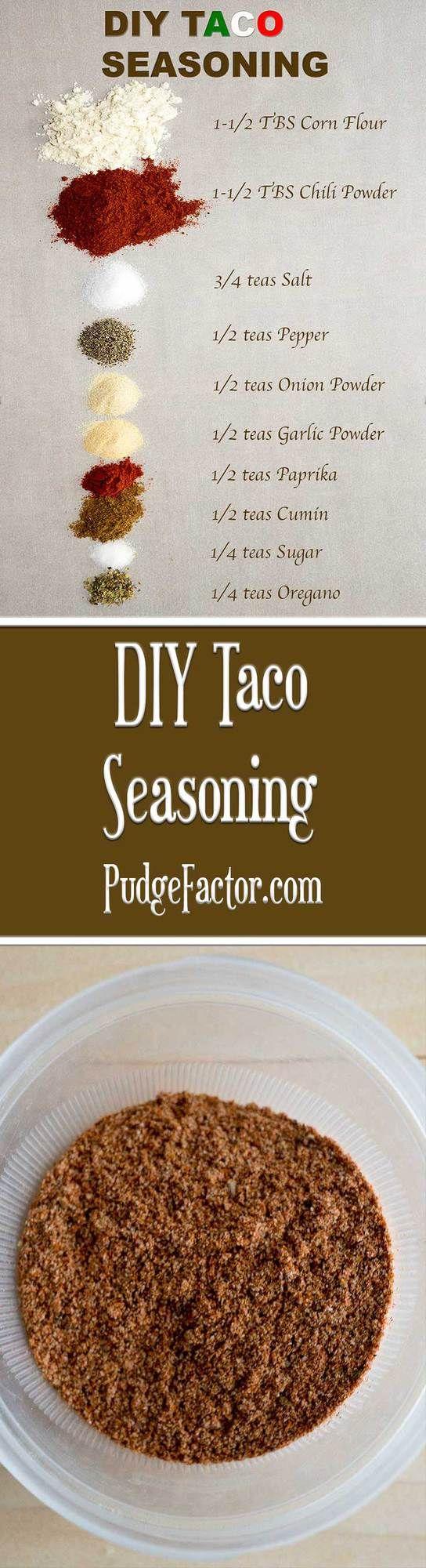 DIY Taco Seasoning Mix #tacoseasoningpacket