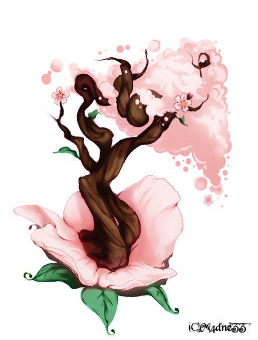 Cherry Blossom Tree By M4dnezz On Deviantart Cherry Blossom Tree Blossom Trees Cherry Blossom