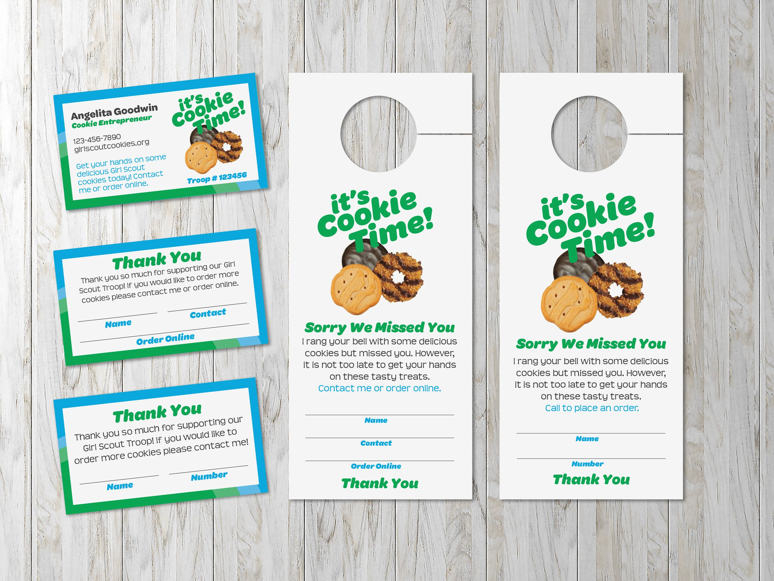 Girl Scout Cookie Selling Bundle With Business Card Door Etsy Girl Scout Cookies Online Girl Scout Cookies Selling Girl Scout Cookies