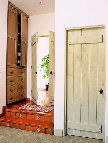 Rustic Plank Door An Interior Can Set The Tone For A Room Here With Simple Braces At Top And Bottom Adds To Character Of