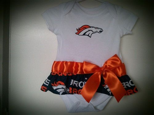 1114c5c724396 Denver Broncos inspired baby girl outfit on Etsy, $19.00 | Baby ...