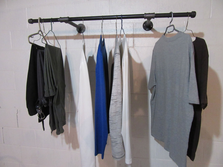 Item 258 3 4 Double Mount Steampunkindustrial Etsy Clothing Rack Garment Racks Retail Display