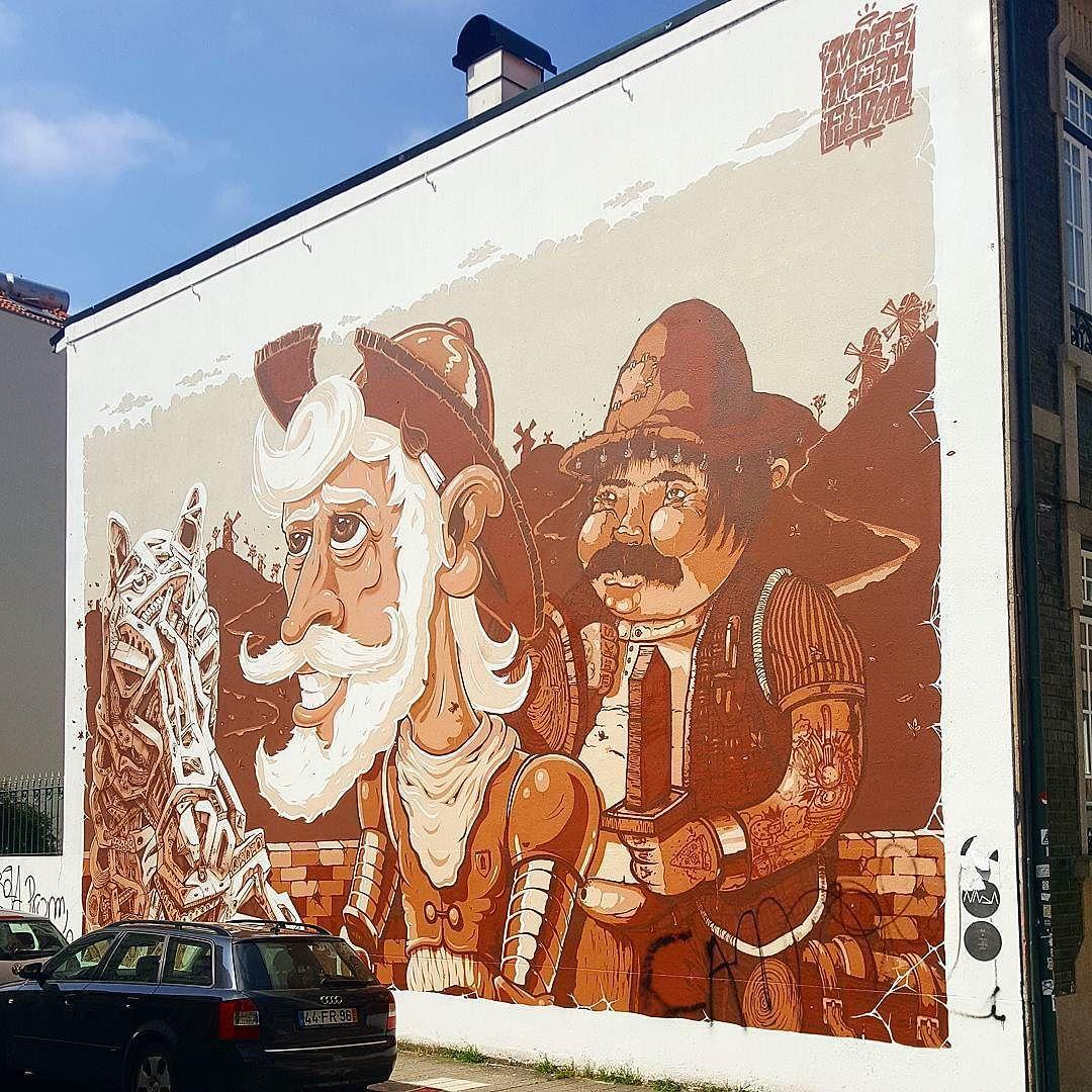 El #StreetArt de #Oporto nos está dejando maravillados!!! No sólo sus dibujos callejeros el #arte se respira por toda la ciudad! Muy recomendable  by tagoartwork