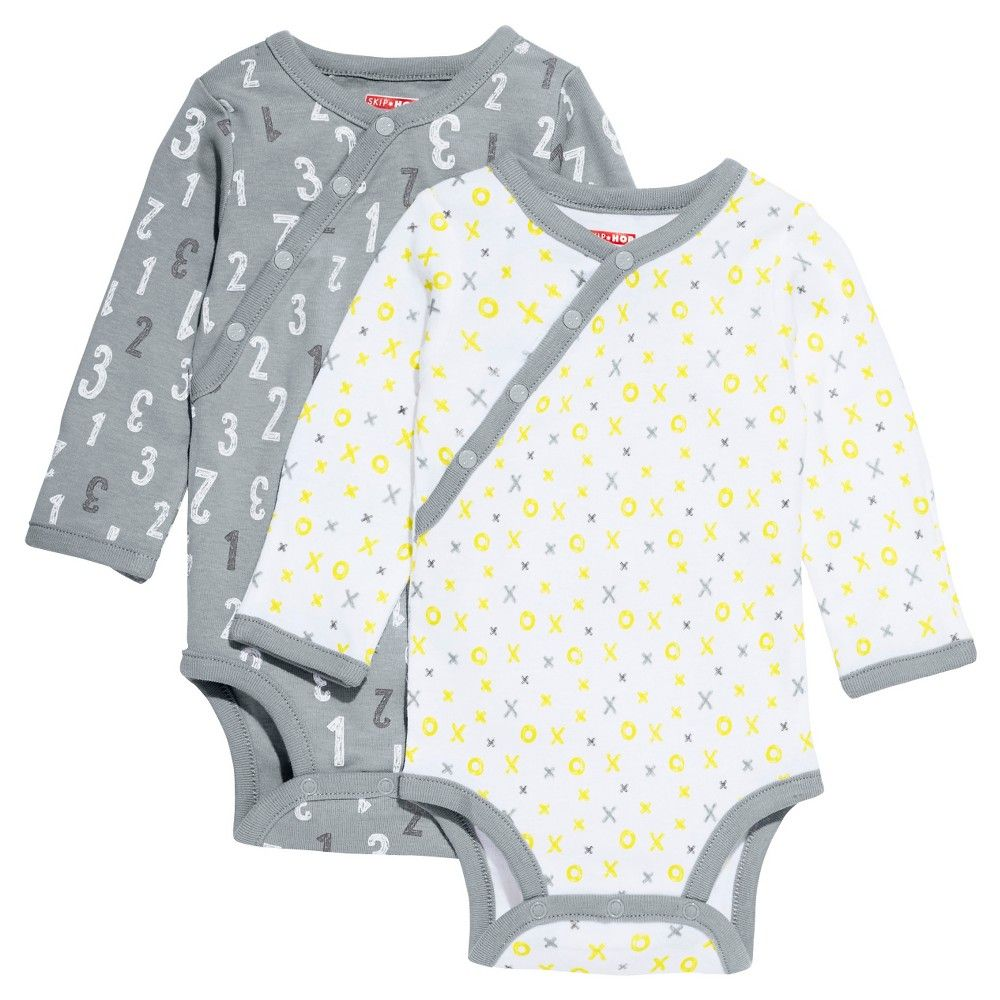 a8ea2d0cecbf Skip Hop Baby Long Sleeve Side Snap Bodysuit - Grey 6M