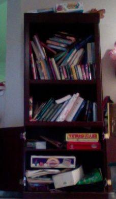 Tall Cherry Bookshelf In Acmalone S Garage Sale Dallas Tx Bookshelves Garage Sales Sale House