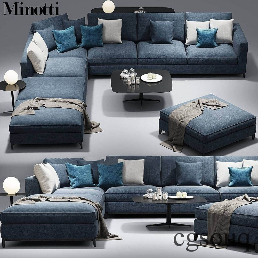 Minotti Andersen Sofa 3d Model For Download Cgsouq Com Living Room Sofa Design Sofa Design Sofa Set Designs