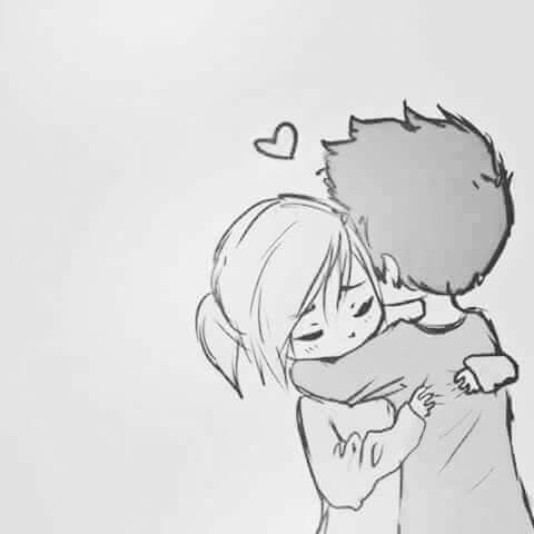 Pin By Isaac Martinez On Cute Sketches Of Love Hug Cartoon Sketches Of Love Couples
