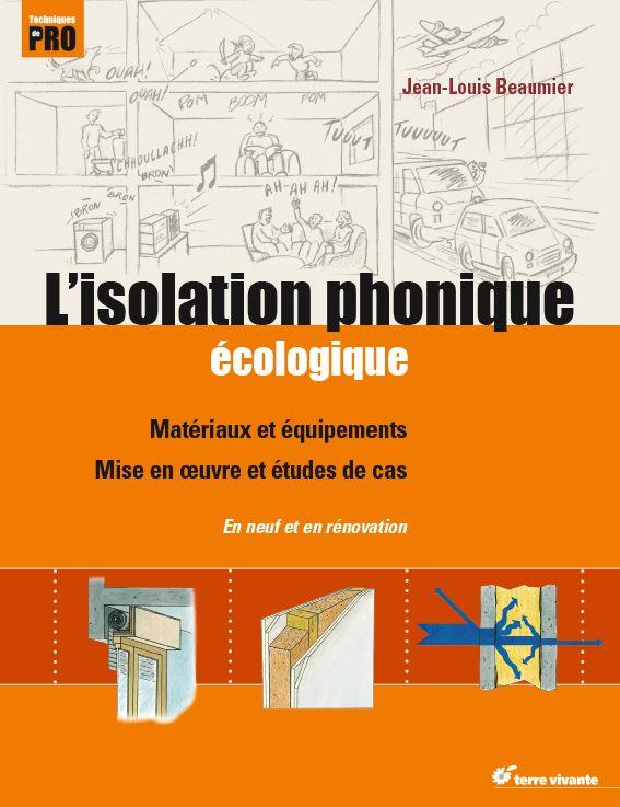 Livre  L\u0027isolation phonique écologique Acoustic Pinterest - echangeur air air maison