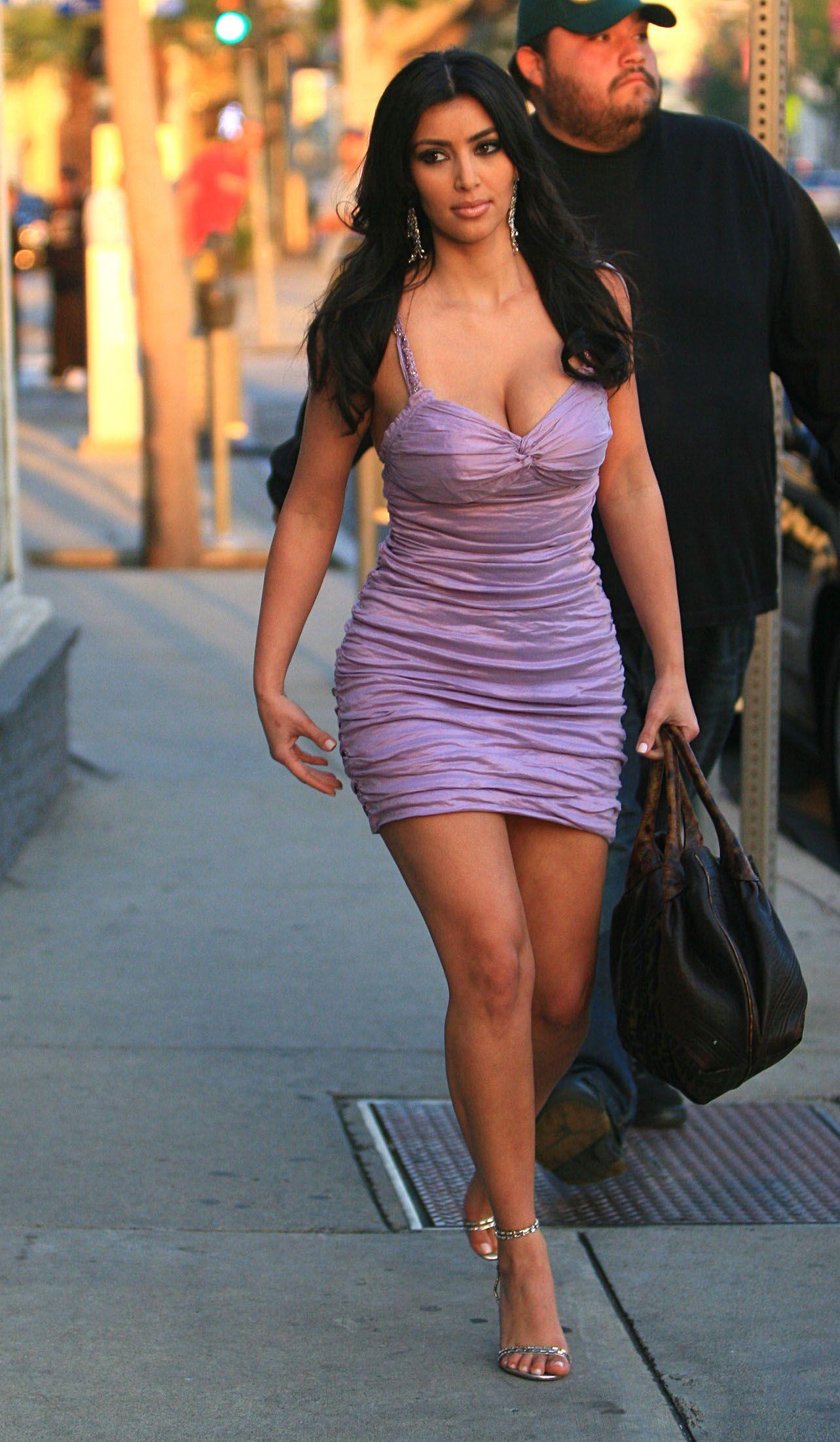 Purple Dress Kim Kardashian - Dresses Evening