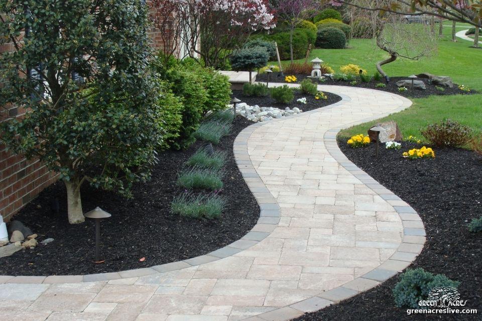 curved paver walkway walkways