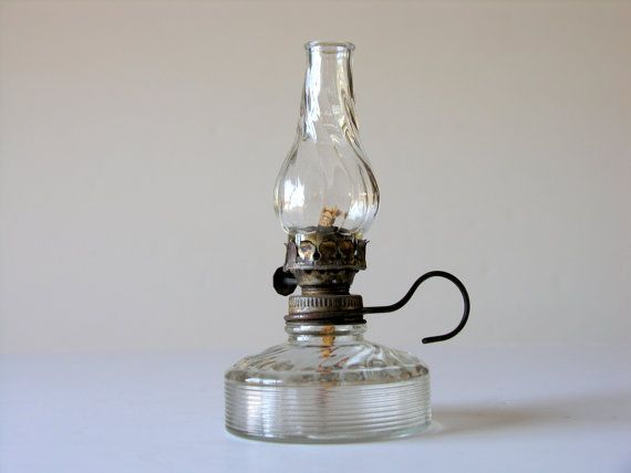 Antique Tiny Oil Lamp Small Lantern Swirled Gl By Veraviola 30 00