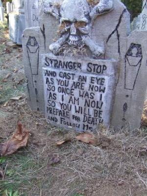 Halloween tombstone by ella Halloween Outdoor Decor - Cemeteries - pinterest halloween yard decor