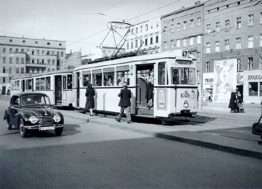 1952 Hermannplatz Strassenbahnlinie 47 Pankow-Rudow