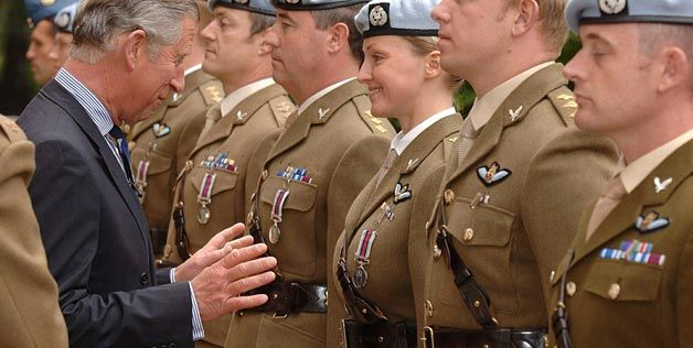 Prince Charles during a presentation of Afghanistan Service Medals ...