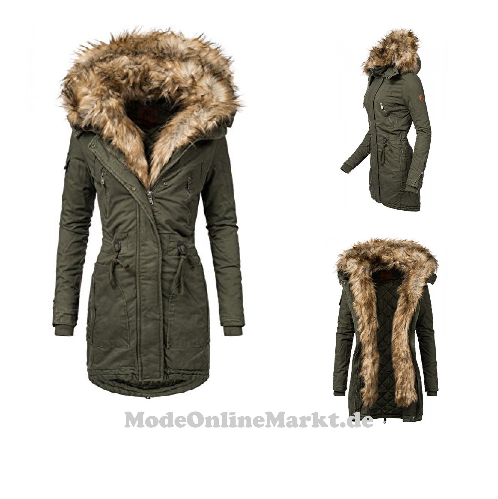 Peak Time Damen Jacke M385 Khaki Gr. 38: : Bekleidung