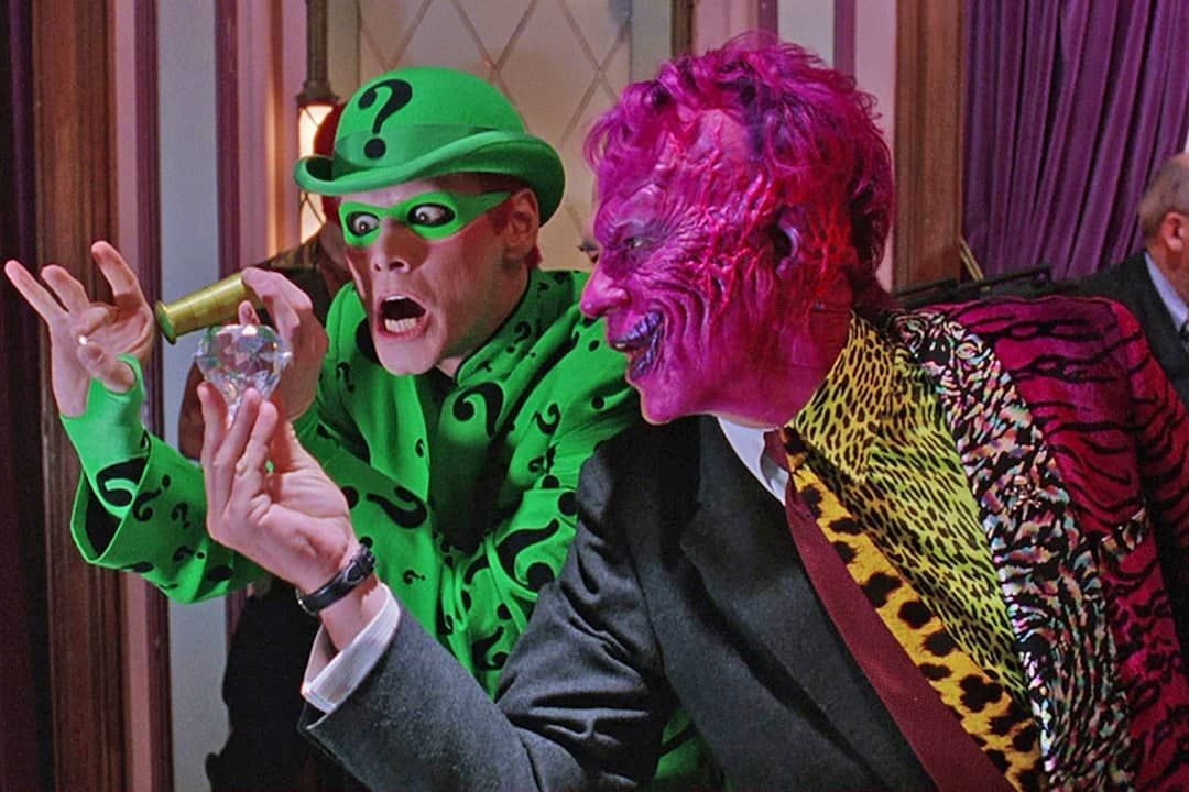 The Riddler and Two Face in Batman Forever. 1995 directed