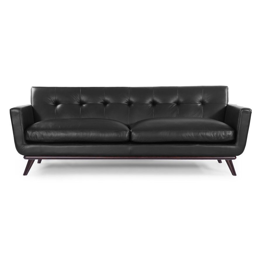 Luther Mid Century Modern Vintage Leather Sofa | living room ...