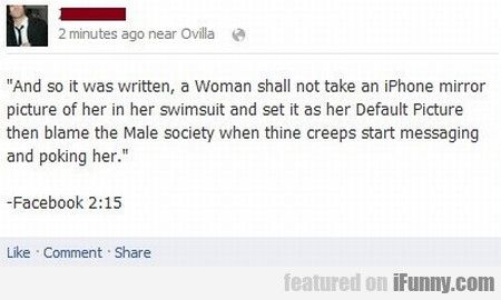 And So It Was Written, A Woman Shall Not Take..