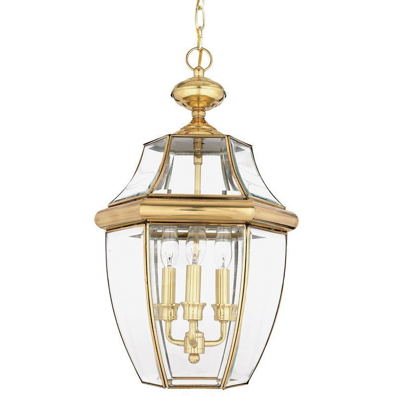 quoizel ny1179 newbury 3 light 13 wide outdoor pendant lantern with