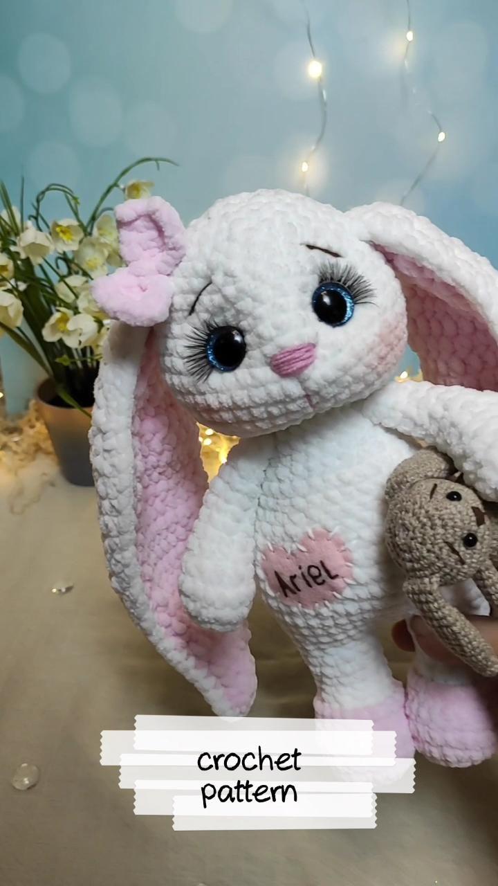 crochet Bunny PATTERN personalized bunny crochet f