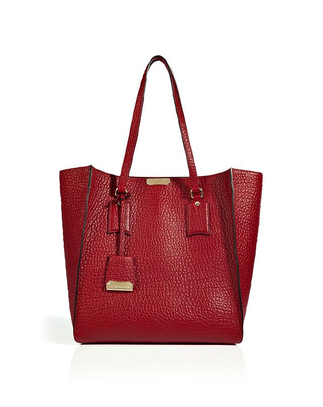 Burberry London Leather Woodbury Tote in Military Red  7aa1e30983f69