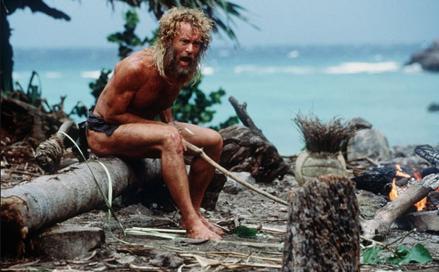 tom hanks/ cast away my favorite movie of all time :)