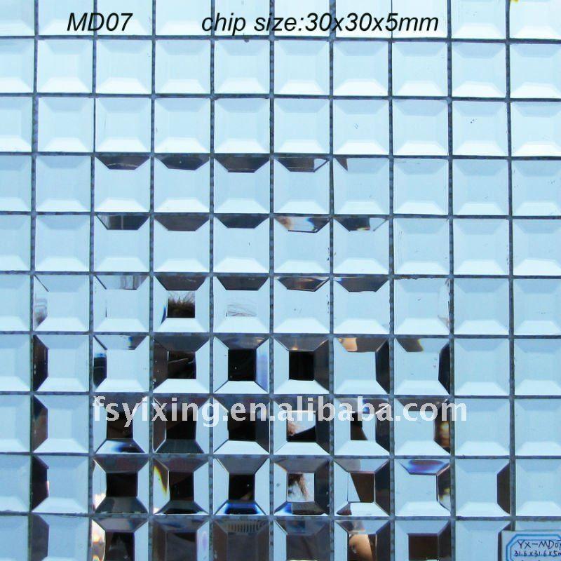 Azulejos de mosaico de vidrio biselado md07 me gusta for Mosaicos para espejos