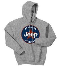 CLOSEOUT - Grey Jeep® Star Hooded Sweatshirt