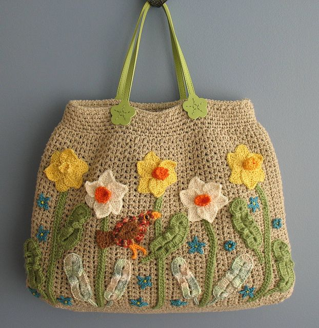 Beautiful crocheted bag