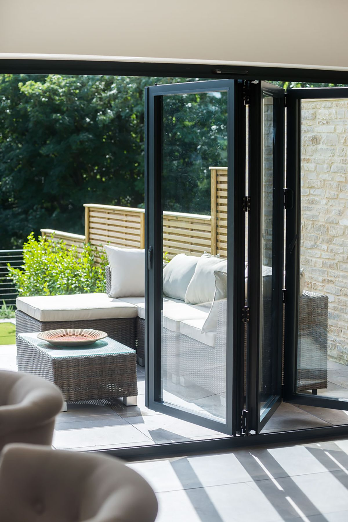 Aluminium Bifolding Doors From Gfd Homes To Suit Any Home From The Simplest To Most Complex We Can Help Bifold Doors Sliding Glass Door Sliding Door Panels